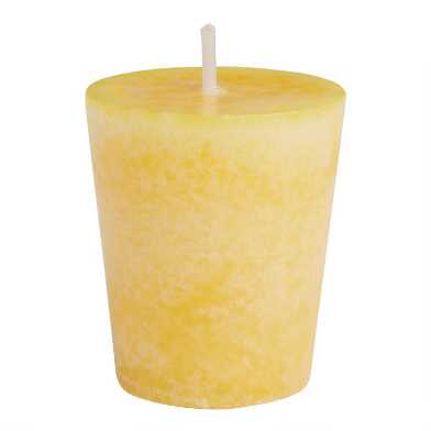 Limoncello Mottled Votive Candle 4 Pack