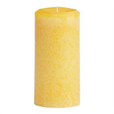 3x6 Limoncello Mottled Pillar Candle
