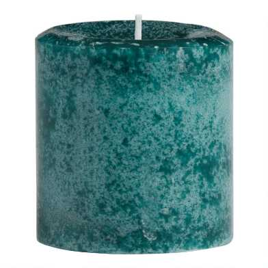 3x3 Black Fig Vetiver Mottled Pillar Scented Candle