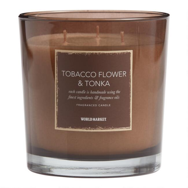 Tobacco Flower & Tonka Scented Candle