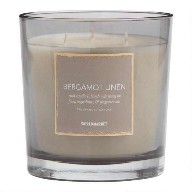 Bergamot Linen Filled Jar Candle