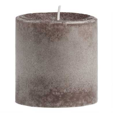 3x3 Bergamot Linen Mottled Pillar Scented Candle