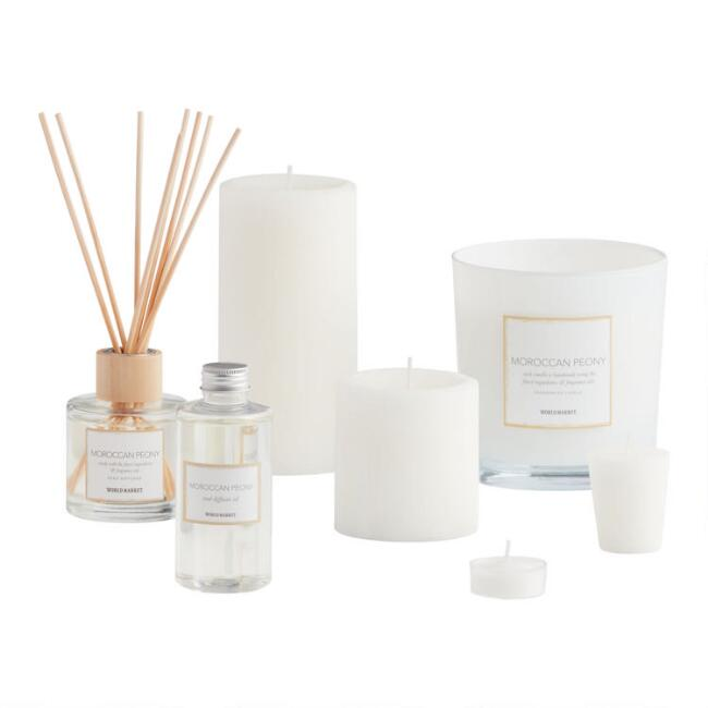 Moroccan Peony Scented Candle Collection
