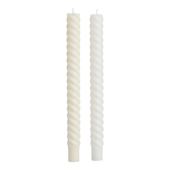 Rope Taper Candle 2 Pack