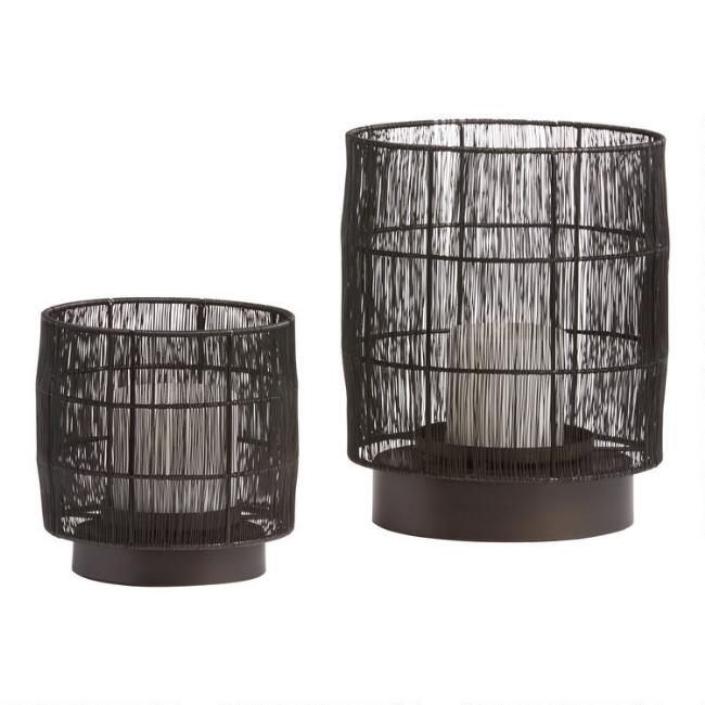 Black Wire Evan Hurricane Candleholder