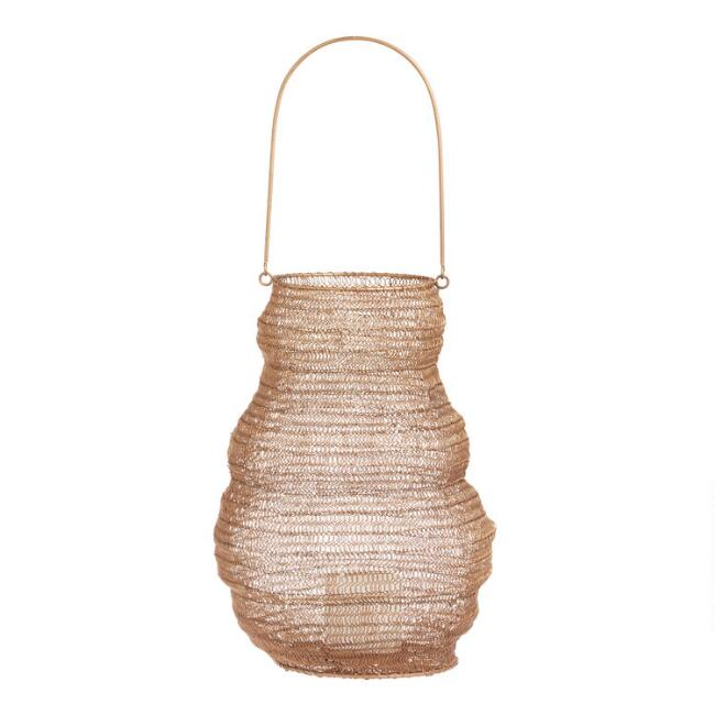 Gold Wire Collapsible Myla Lantern