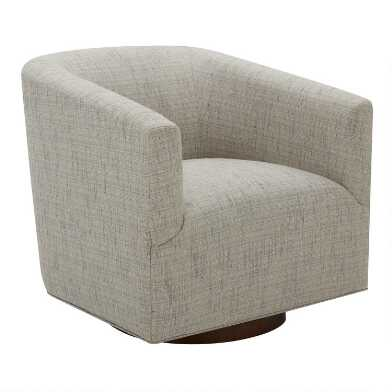 Gray Stieg Upholstered Swivel Chair