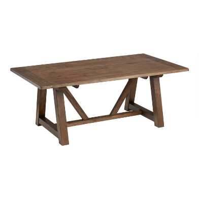 Smoke Brown Farmhouse Leona Extension Dining Table