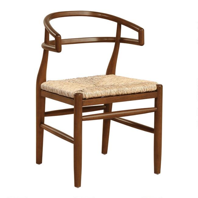 Woven Seagrass Wishbone Raelyn Dining Armchair Set Of 2