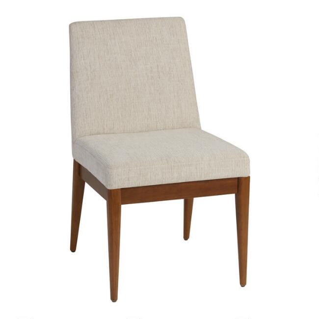 Oatmeal Caleb Upholstered Dining Chair Set Of 2
