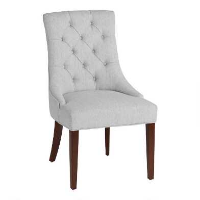 Dove Gray Tufted Esmerelda Upholstered Dining Chair