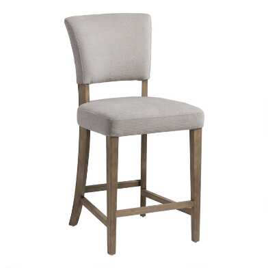 Gray Joelle Upholstered Counter Stool