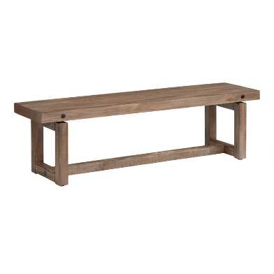 Light Brown Rustic Ainsley Dining Bench