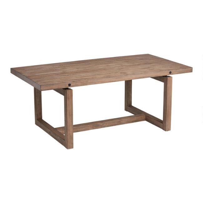 Light Brown Rustic Ainsley Dining Table