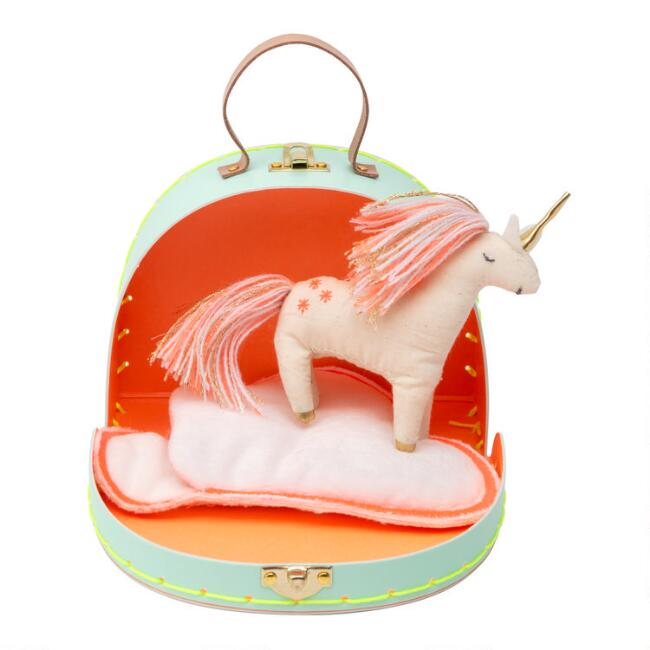 Meri Meri Mini Rainbow Suitcase With Unicorn Doll