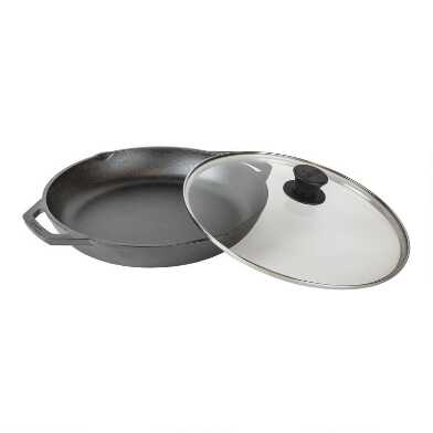 Lodge Chef Collection Cast Iron Everyday Pan With Lid