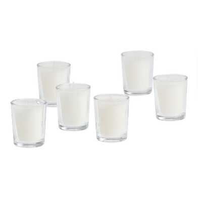 Clear Glass Votive Candleholder Set of 6