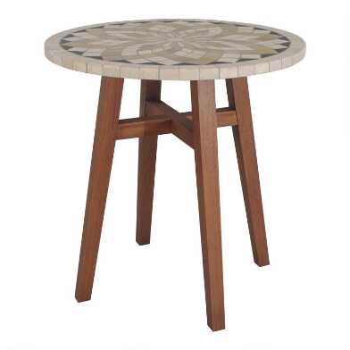 Spanish Marble Kimo Counter Height Outdoor Dining Table
