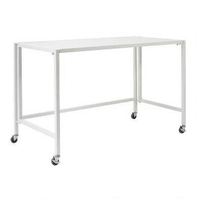 Metal Folding Rolling Adams Desk
