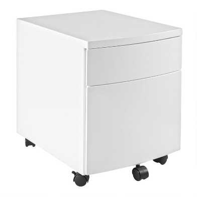 Metal 2 Drawer Adams Rolling File Cabinet