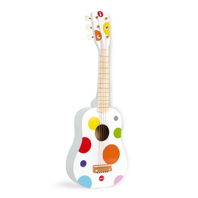 Janod White Confetti Guitar Musical Toy