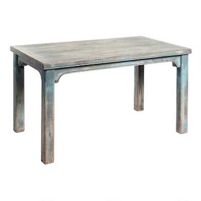 Antique Gray Blue Reclaimed Pine Reanne Dining Table