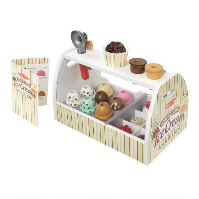 Melissa & Doug Scoop & Serve Ice Cream Counter Play Set