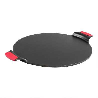 Lodge Cast Iron Pizza Pan with Silicone Holders