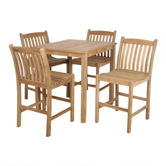 Teak Windsong Outdoor Pub Dining Collection