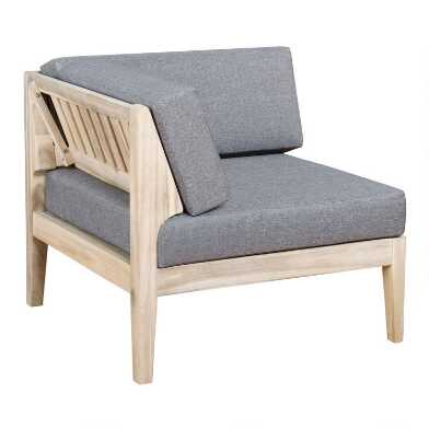 Natural Acacia Jorna Modular Outdoor Sectional Corner Chair