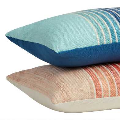 Center Stripe Indoor Outdoor Lumbar Pillow
