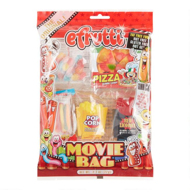 Efrutti Movie Bag Gummy Candy Set Of 3