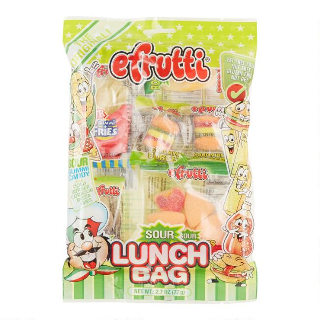 Efrutti Sour Lunch Bag Gummy Candy Set Of 3