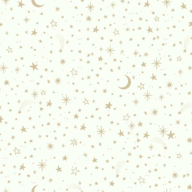 Gold Twinkle Star Peel and Stick Wallpaper
