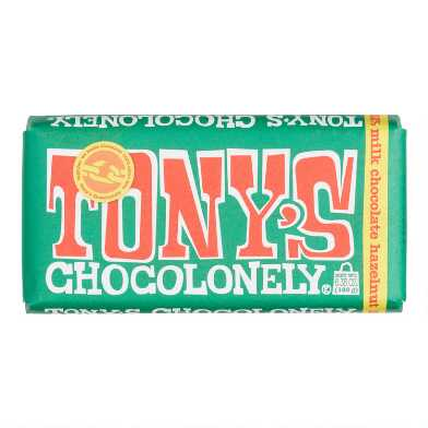 Tonys Chocolonely Hazelnut Milk Chocolate Bar
