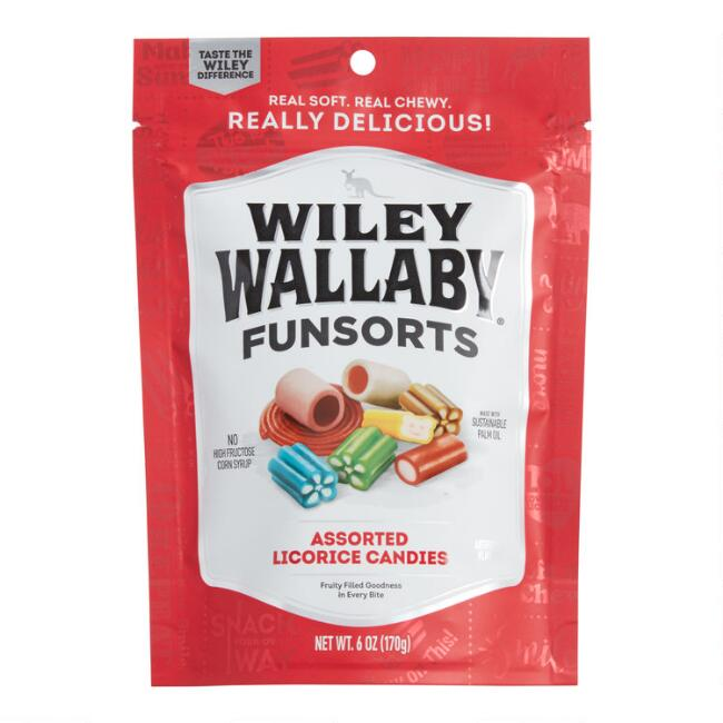 Wiley Wallaby Funsorts Licorice Candies Set Of 2