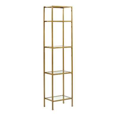 Metal and Glass Milayan Etagere Shelf