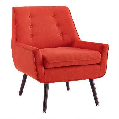 Tufted Flannel Brooks Upholstered Chair