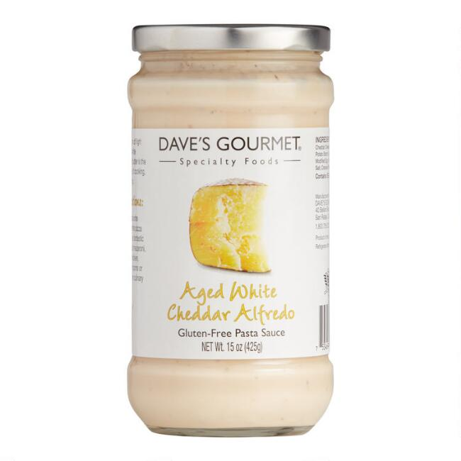 Dave's Gourmet Aged White Cheddar Alfredo Pasta Sauce