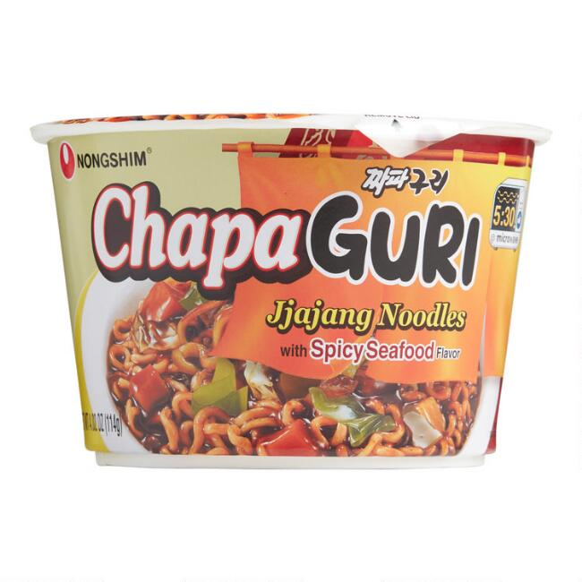 Nongshim Chapaguri Spicy Seafood Noodle Soup Cup Set of 6