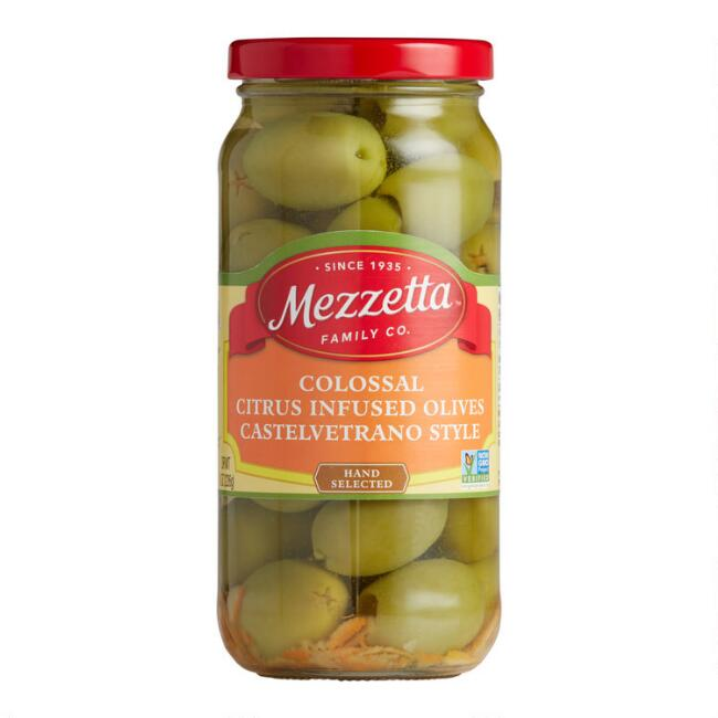 Mezzetta Colossal Citrus Infused Pitted Castelvetrano Olives