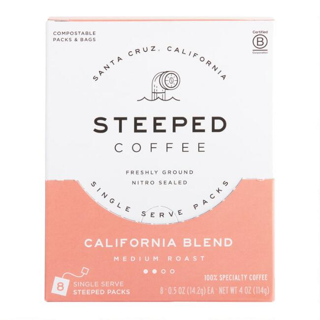 Steeped California Blend Single Serve Coffee 8 Count