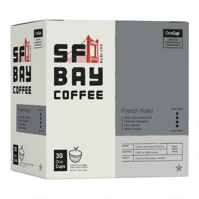 SF Bay French Roast Coffee Pods 30 Count