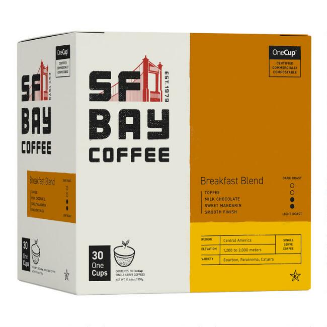 SF Bay Breakfast Blend Coffee Pods 30 Count