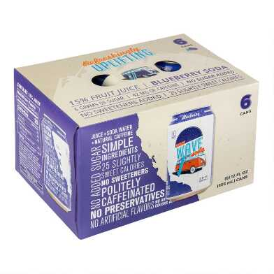 Wave Blueberry Soda 6 Pack
