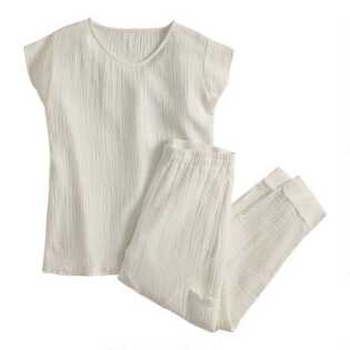 Ivory Textured Goa Loungewear Collection