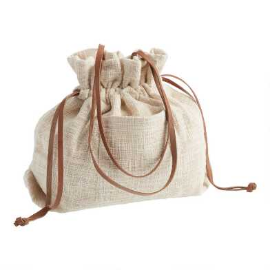 Ivory Textured Tote Bag