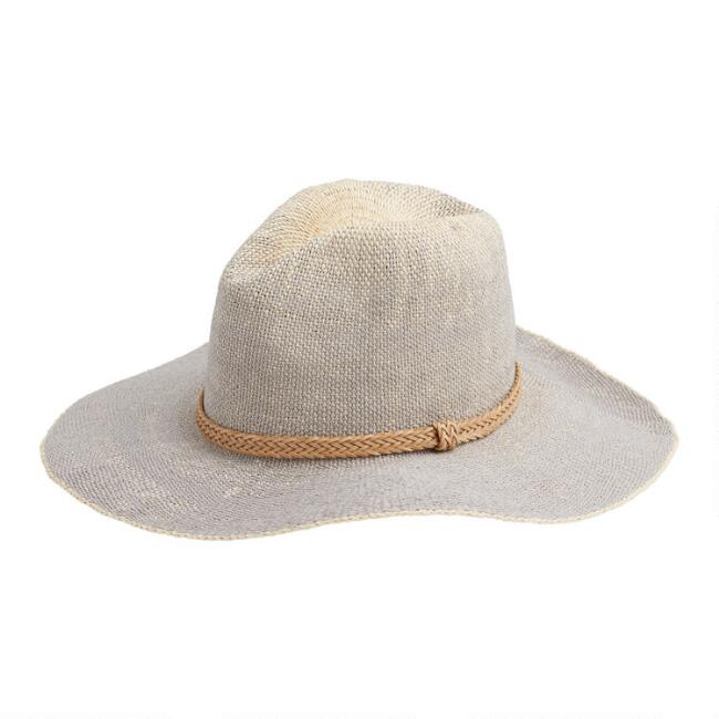 Gray Ombre Straw Rancher Hat