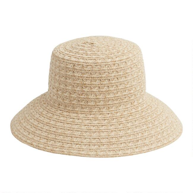 Natural Woven Straw Bucket Hat