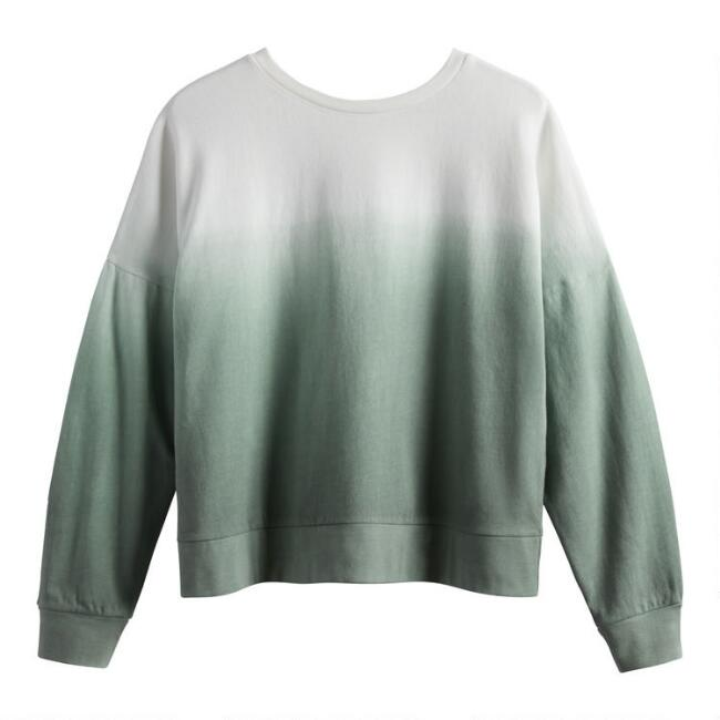 Sage Green And White Ombre Lounge Top